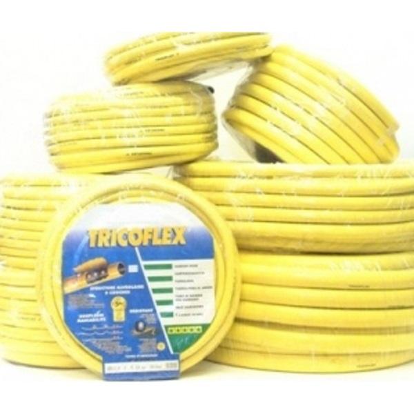 """Tricoflex slang geel 12,5mm (1/2"""") 25 meter"""