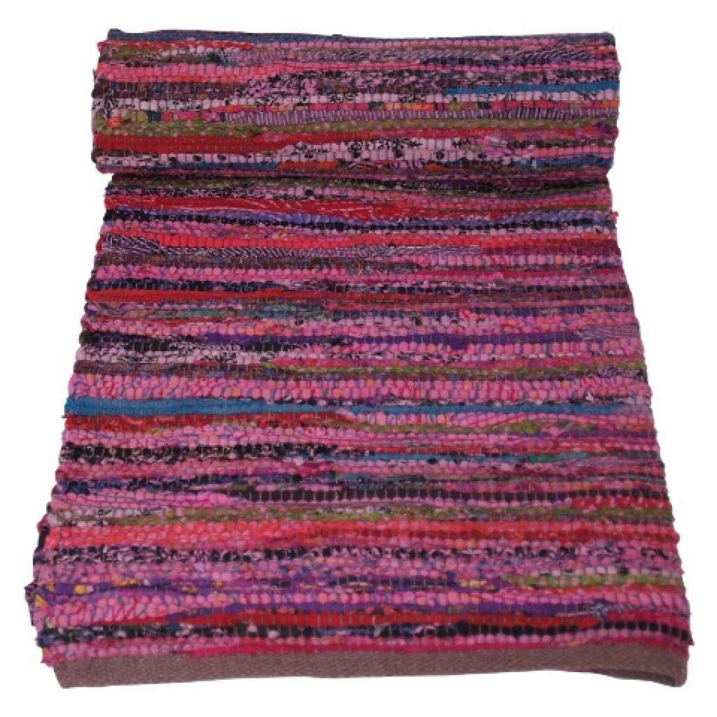 Evenaar Vloerkleed katoen 90×150 Roze