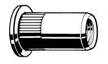 RVS A2 BLKLMR OPEN CILINDERKOP  M4 PLAAT 0,5-3,0
