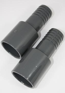 Aansluitset voor een collector aan een 50mm pvc-buis