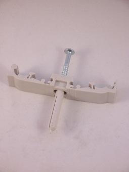 Muurbevestigingsbeugel kunststof 12 mm buis