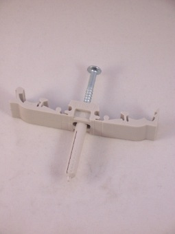 Muurbevestigingsbeugel kunststof 15 mm buis