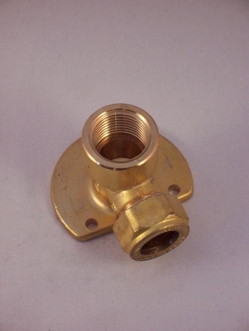 Muurplaat voor kraan 1/2-15 mm knelkopp.