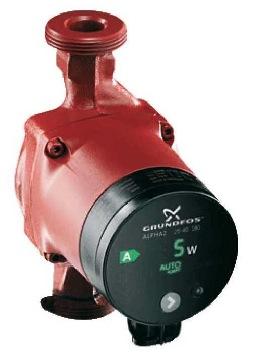 Energiezuinige Grundfos circulatiepomp voor centrale (vloer)verwarming