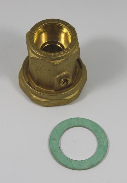 "pomp wartelmoer/kogelkraan 1½"" - 28mm knelk."