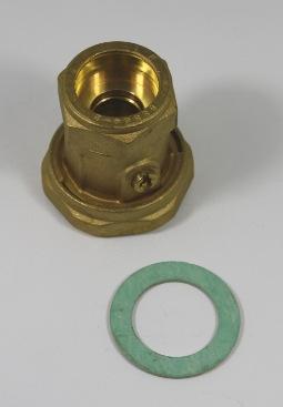 """Pomp wartelmoer/kogelkraan 1 1/2\"""" naar 28mm knelkoppeling"""