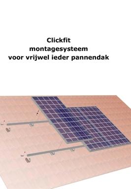 Compl.set v. paneel 1600x1000 op dakpan 10-20 st, 2 rijen, per paneel