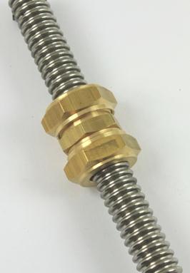 Verlengsok voor 2 DN12 ribbelbuizen met speciale knelkoppelingen