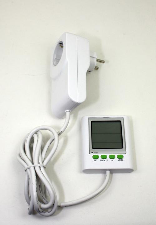 Elektriciteit verbruiksmeter met apart LCD display