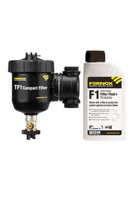 Extreem sterke magnetische vuilafscheider voor cv, inclusief F1 Filter Fluid + Protector