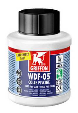 Griffon WDF-05, speciale PVC lijm voor zwembaden 250ml, flacon met borstel