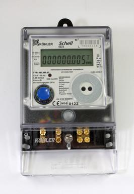 Digitale kWh meter 1-fase tot 60A