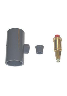 T-stuk voor 50mm pvc-buis met ontluchter