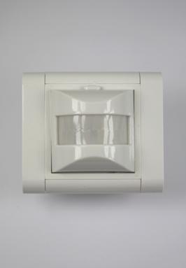 Beweging- & schemerschakelaar voor binnen, infraroodsensor, 120 graden, inbouwdoos