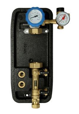 Pompgroep, EXCLUSIEF pomp, overdruk, manometer, thermometer, doorstroom- meter
