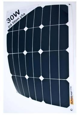 Sunbeam flexibel & beloopbaar zonnepaneel 30Wp, 535 x 378 mm