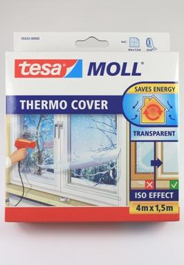 Tesa vensterfolie werkt net als dubbelglas en isoleert het raam