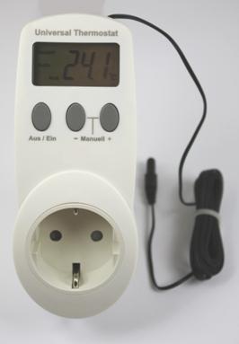 Thermostaat doorvoerstekker voor elektrische verwarming/koeling met sensor aan kabel