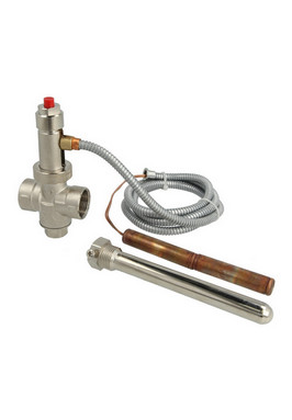 Watts overtemperatuur beveiliging voor houtkachels met een cv aansluiting