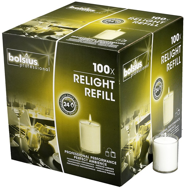 Bolsius Relight <br />doos 100 stuks