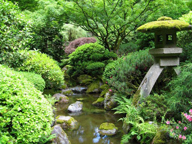 Tuinschilderij Japanse Tuin