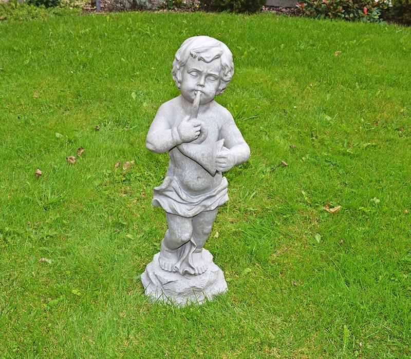Tuinbeeld muzikant met fluit