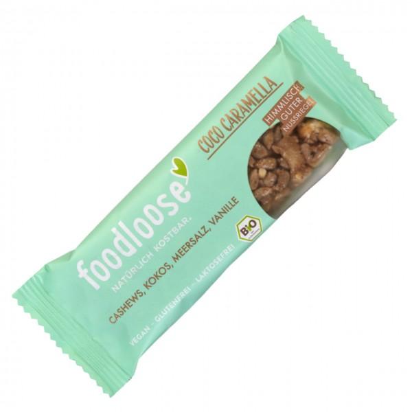FOODLOOSE NOTENREPEN coco caramella bio vegan