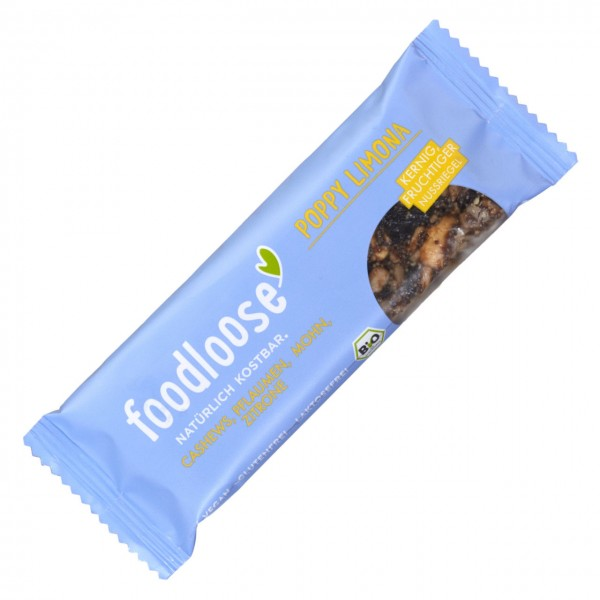 FOODLOOSE NOTENREPEN poppy limona bio vegan