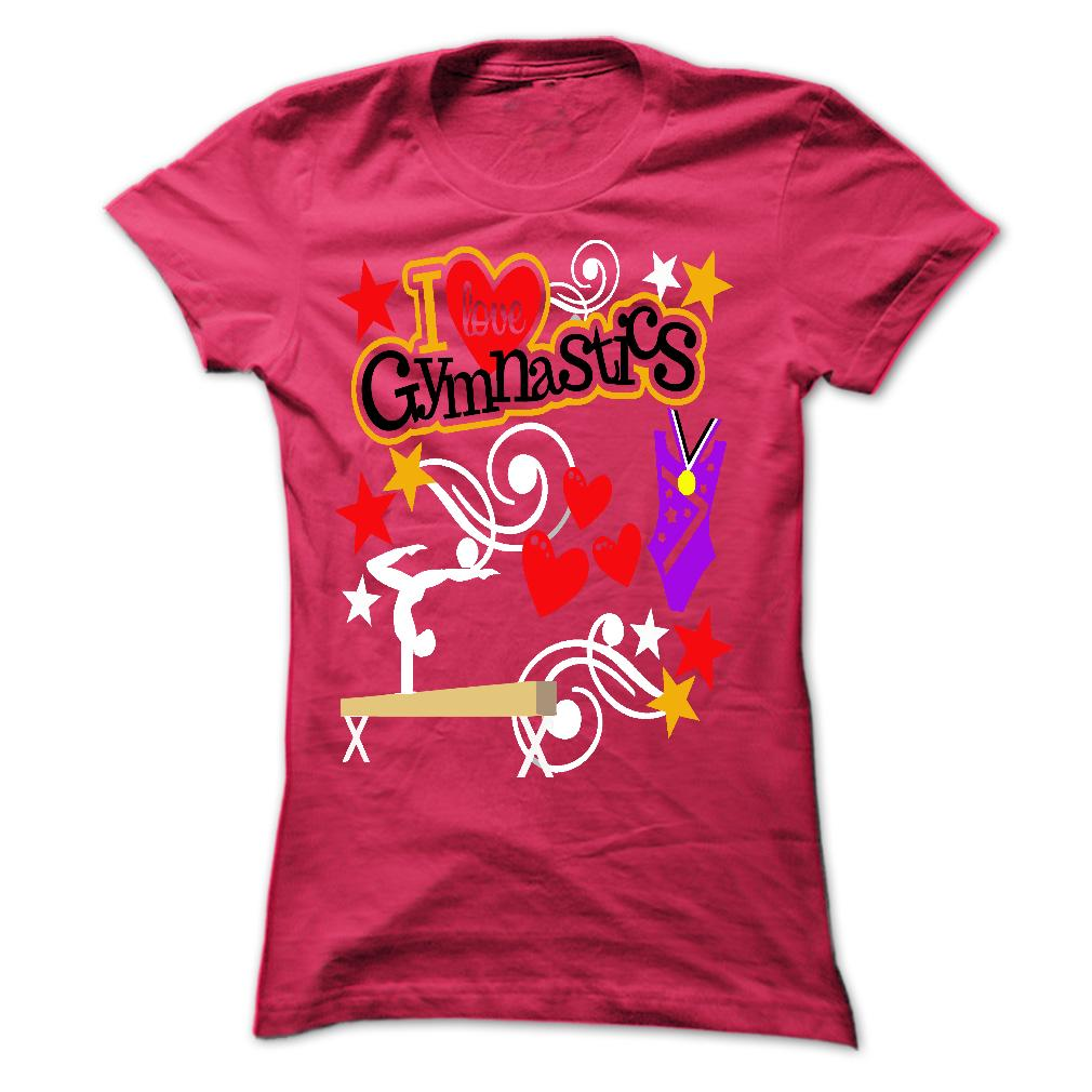 T-shirt - I Love Gymnastics - Pink