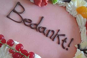 Tekst op de taart