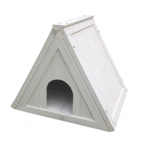 driehoekhuis wit
