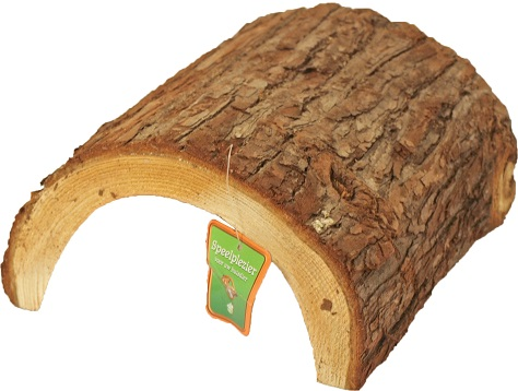 halve houten tunnel