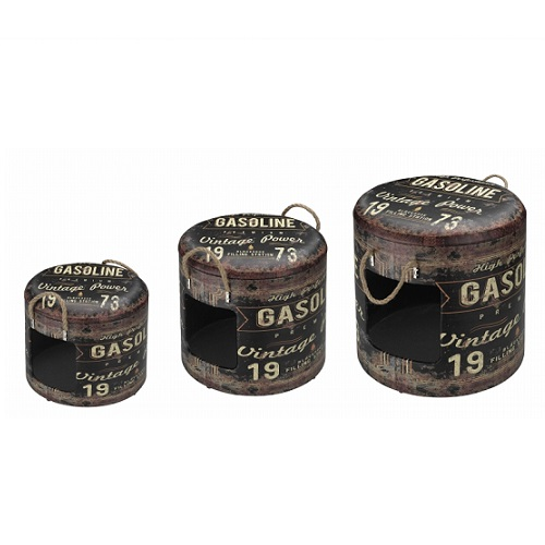 industrial ton vintage bruin grijs L