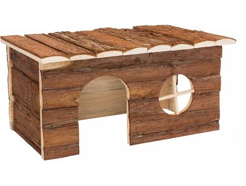 konijnen houten huis patrijspoort M 20 x 40 x 23