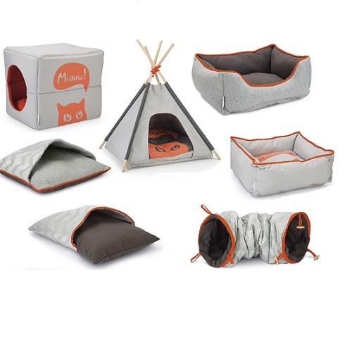 kubus konijnen huis grijs oranje