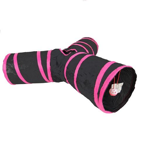 Tunnel 3 armen groot roze zwart .