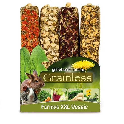 4 verschillende grote groente grainless sticks