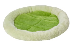 Groene mand klein konijn
