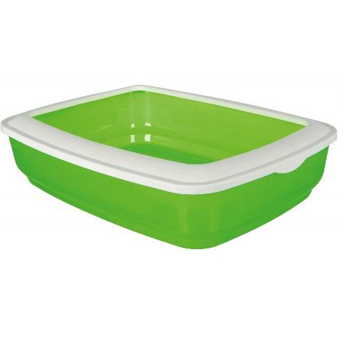"""Plasbak groen """"glass look""""met rand   11 x 50 x 38."""