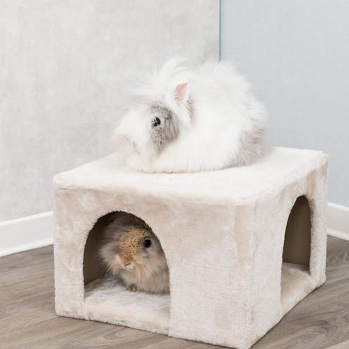 zacht vierkant konijnen huis  25 x 36 x 36