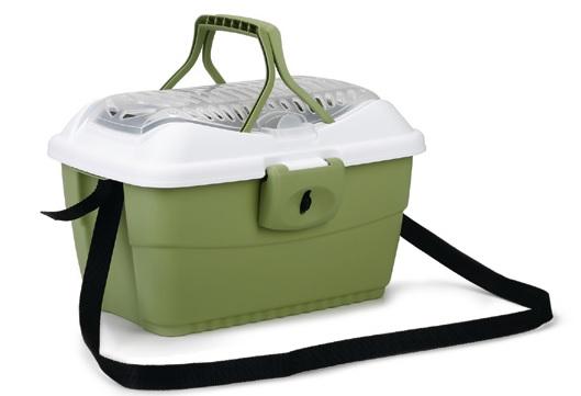 transportkoffer groen met wit klein 40 x 22 x 32
