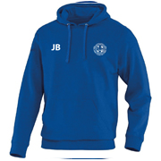 Hooded sweater blauw junior met initialen