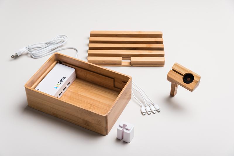 Apple-Uhrhalter, Bambus