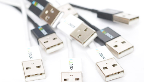 <strong>15% DISCOUNT</strong> ALLDOCK 4-pack Micro-USB-Kabel Wei&#223;
