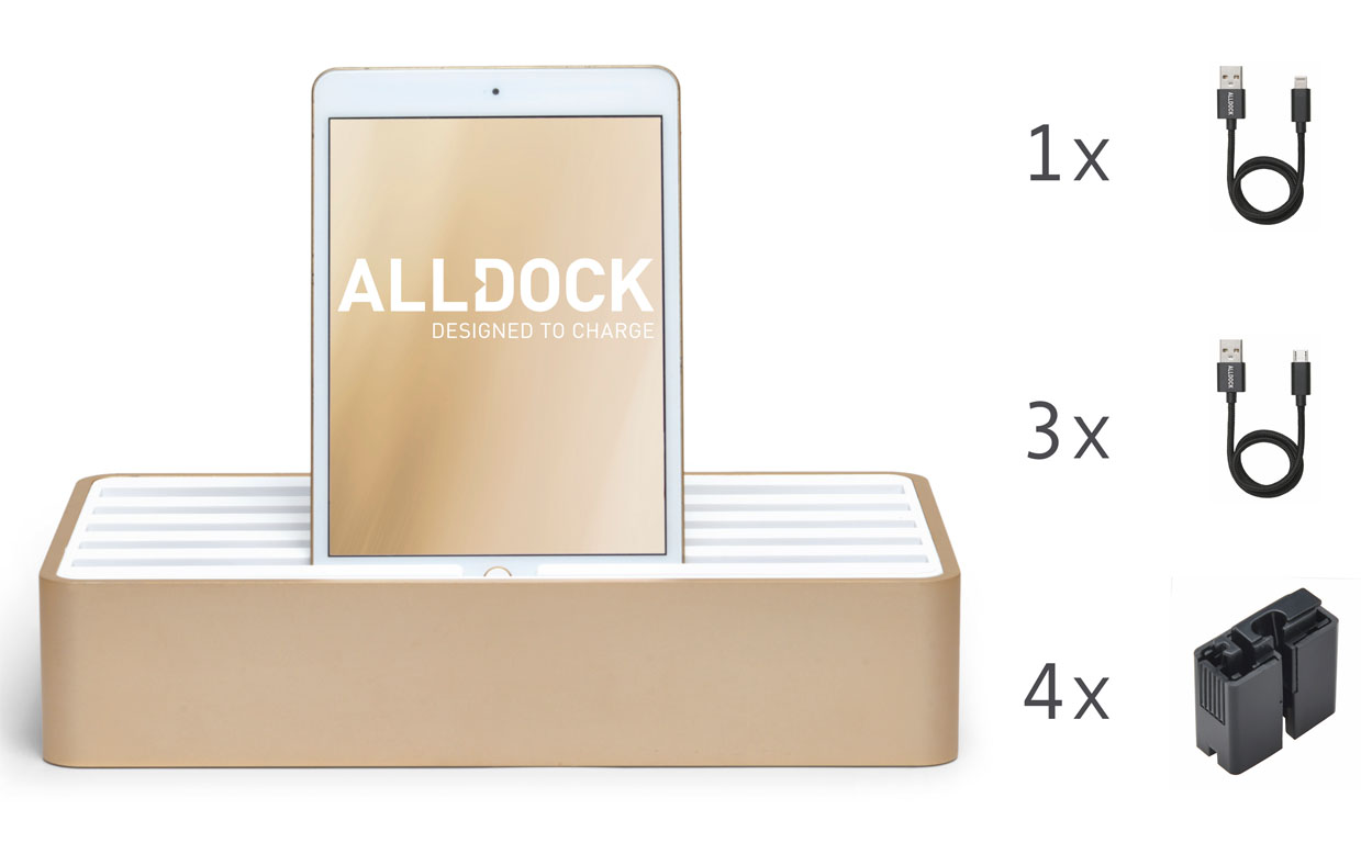 <strong>70% de r&#233;duction </strong>ALLDOCK en gros or en aluminium avet paquet blanc