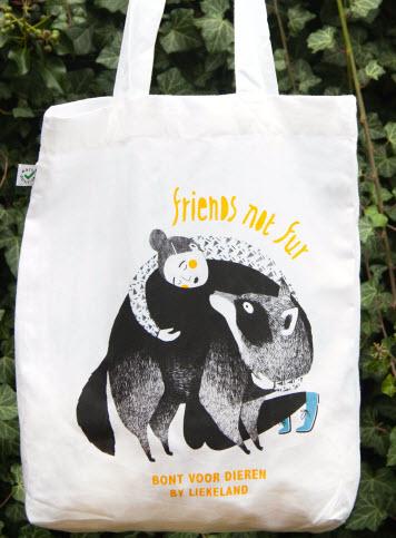 Friends not Fur tas by Liekeland