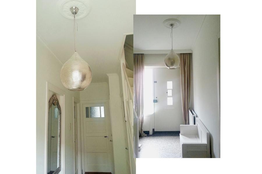 Arabische hanglamp Uma in hal