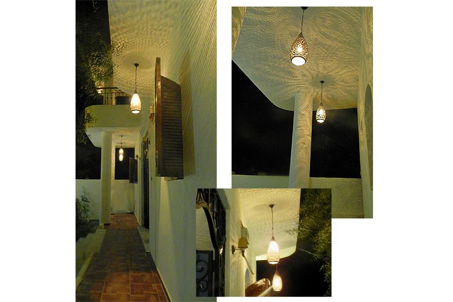 Arabische lampen op de veranda