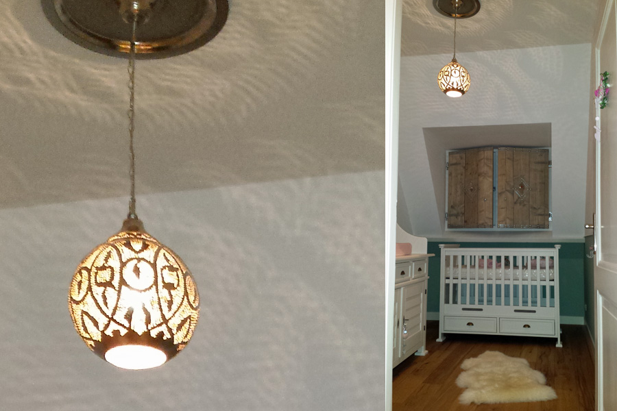 Hanglamp Anwar in babykamer