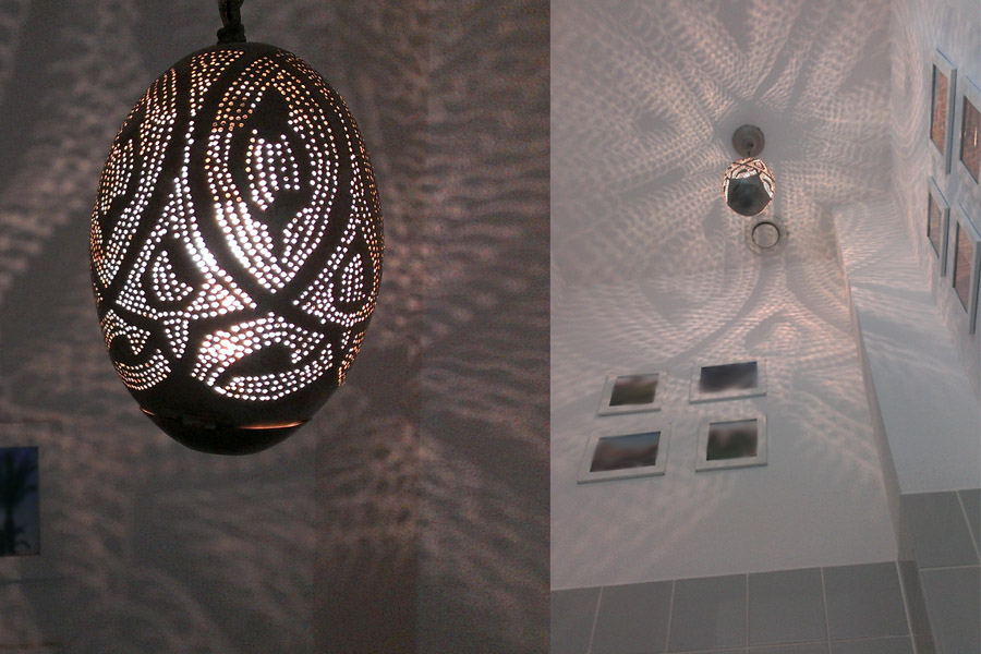 Arabische lamp in toilet